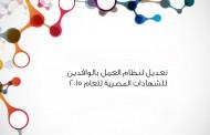 تعديل لنظام العمل بالوافدين للشهادات المصرية للعام 2015