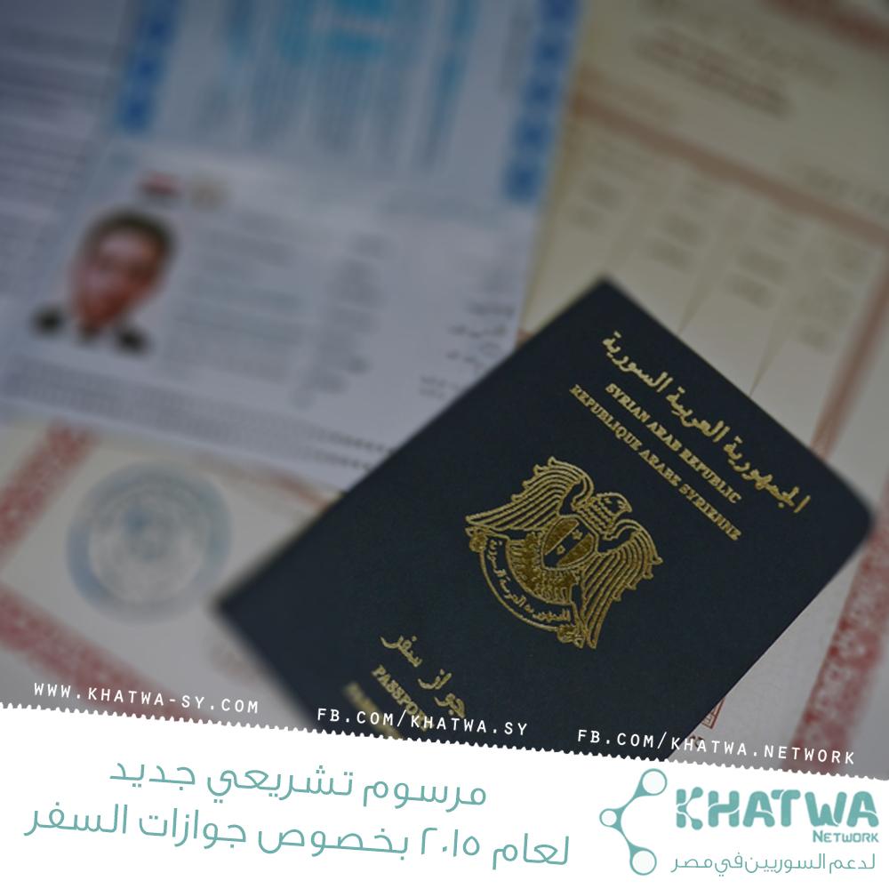 مرسوم تشريعي جديد لعام 2015 بخصوص جوازات السفر