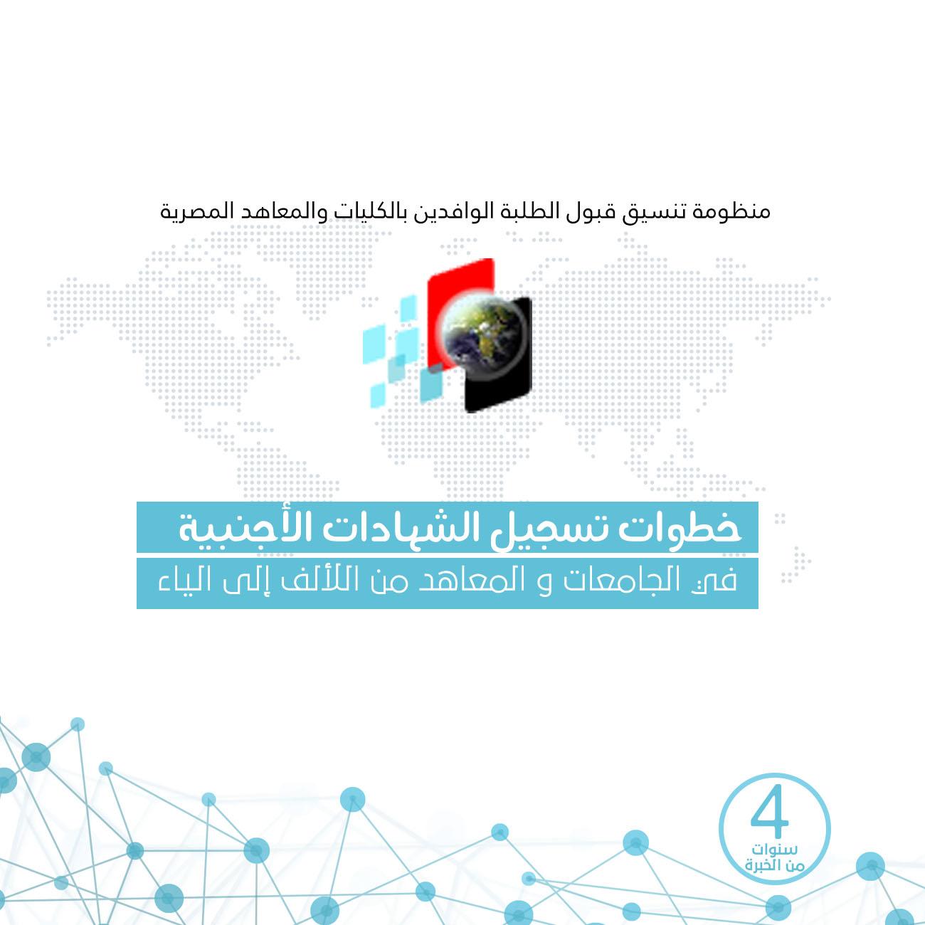 خطوات التسجيل في الجامعات و المعاهد المصرية للطلاب الوافدين